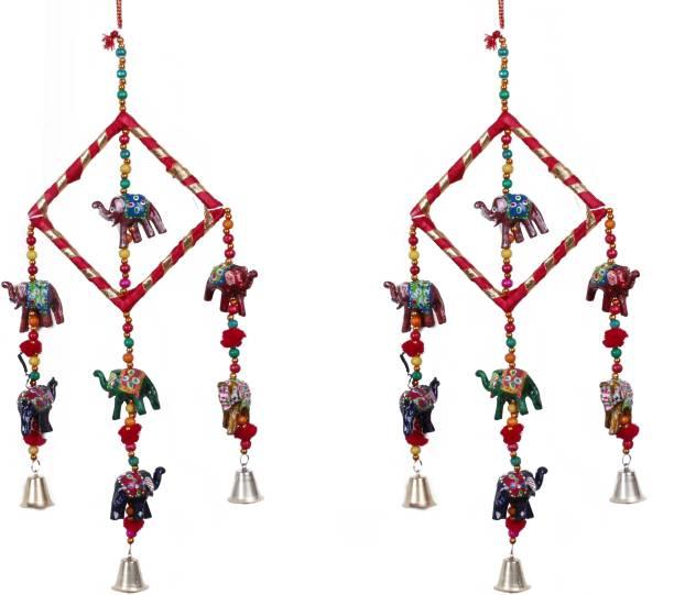 RVART NEW Rajasthani wind chime showpiece for home decor Wood, Plastic Windchime