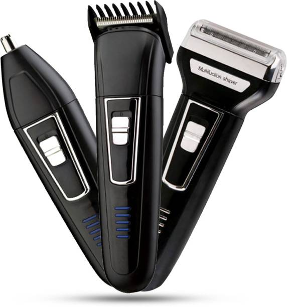 Pick Ur Needs Professional Shaver and 3 in 1 Beard, Nose and Ear Waterproof Trimmer for Men 3 In 1 (2000mAh)  Runtime: 30 min Grooming Kit for Men & Women