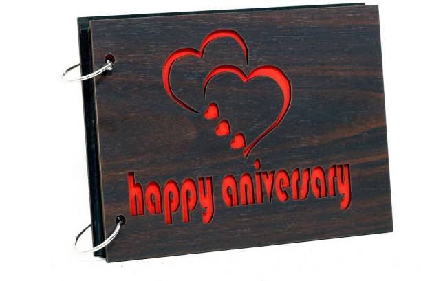 Whichwood Happy Anniversary Wooden Album Album