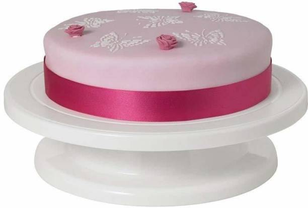 Bluewhale New Cake Decorating Turntable 360 Rotation and Display Stand Plastic Cake Server