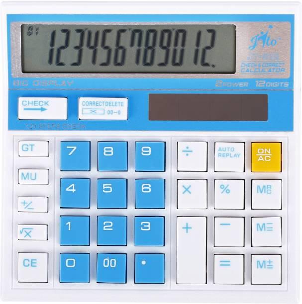 jito 12 Digits JT-512 Blue Check & Correct Big Display 1 Year Warranty Basic  Calculator