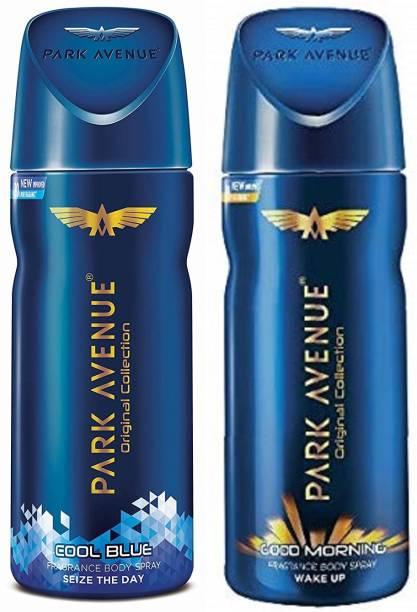 PARK AVENUE Cool Blue + Good Morning Body Spray 2Pcs HW556 Body Spray  -  For Men