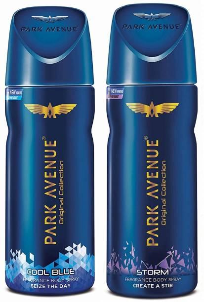 PARK AVENUE Cool Blue + Storm Body Spray 2Pcs AX558 Body Spray  -  For Men