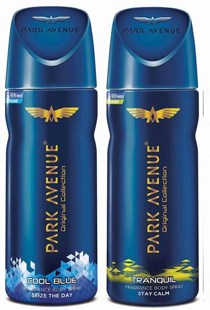 PARK AVENUE Cool Blue + Tranquil Body Spray 2Pcs SA56 Body Spray  -  For Men