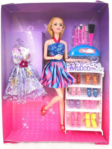 Mubco Alia Doll with Different Shoes & Makeup Accessories Set Toys Pack of 1