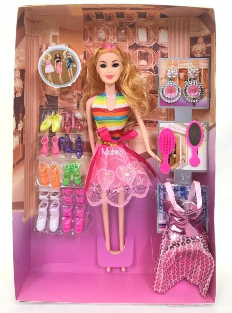 Mubco Happy Girl Doll Set Fashion Accessories ( Pack of 1 )