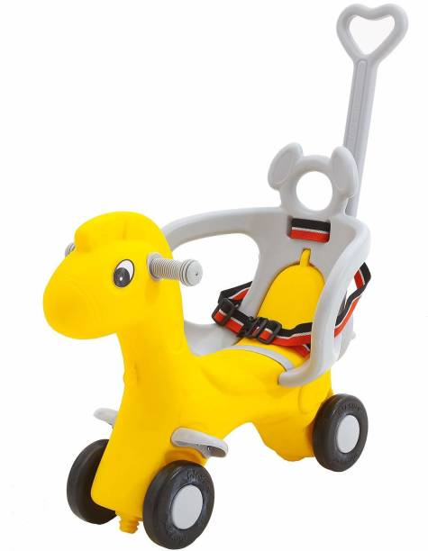 GoodLuck Baybee Baby Horse Rider for Kids Ride On car with Push Handle Toy Car Babies Toddler Plastic Baby Car Comfortable seat 1-5 Years Old Child - Indoors and Outdoors Kids Suitable for Boys & Girls Rideons & Wagons Non Battery Operated Ride On