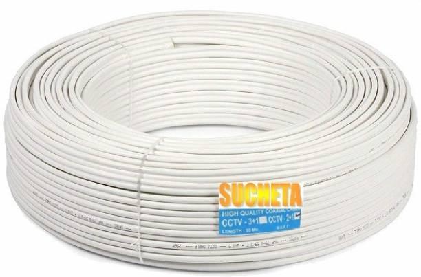 SUCHETA PVC White 30 m Wire