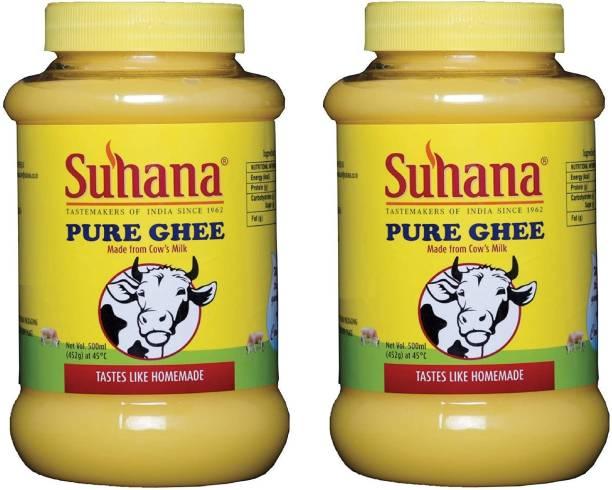 SUHANA Pure Cow Ghee 1000 ml Plastic Bottle