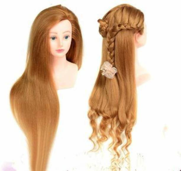 BLOSSOM imported brand 85% real human 30 inch long and soft blonde color hair head with shoulder blonde practice dummy hair extension Hair Extension