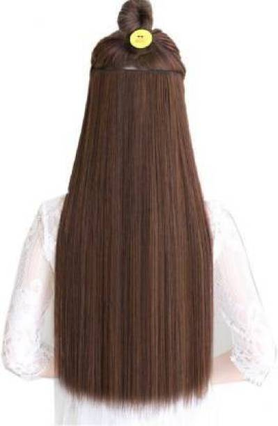 D-DIVINE Beautiful Looks Premium Quality Brown 5 Clip In Hair Extension