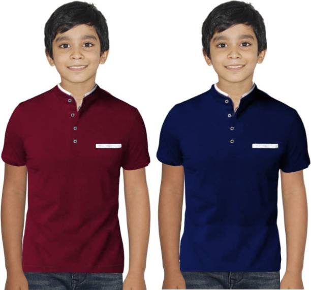 FastColors Boys Solid Pure Cotton T Shirt