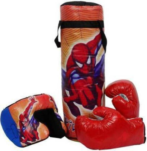 Aao je Supper Toy Boxing Kit With 2 Gloves and 1 Head guard For Kids 3 To 10 Years Boxing Training No.1 Kit(multi-designs) Boxing Kit