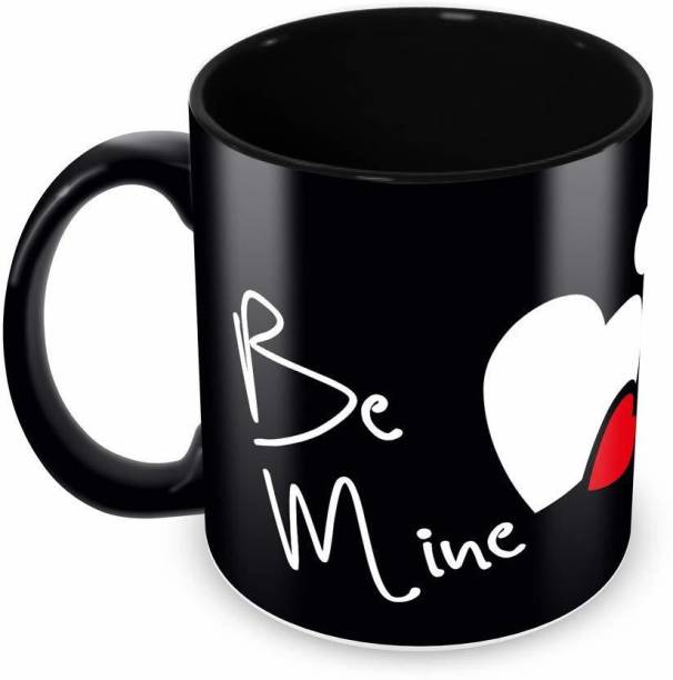"""V Kraft """"be mine"""" quote Ceramic with Handle-Perfect Gift to Anyone On Any Occasion 