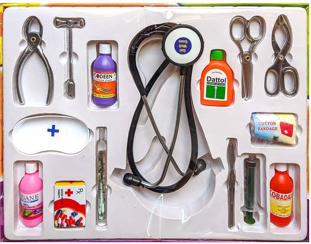 BVM GROUP Doctor at Home Medical Set, 11 Piece (High Quality Non Toxic), Fun Role Play Games for 3 yr Old Kids + Pretend Play Set for Toddler, Doctor Set