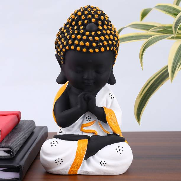 Flipkart Perfect Homes Baby Monk Meditation Position |Little Baby Monk |Meditating Monk Buddha Idols||table decorations items| decorative items for room in Racks & Shelves |Relaxing Buddha Statues in Religios Idols & Spiritual & Festive Decor| home decor Showpieces |handicraft items|Statues|buddha statue big size|Buddha showpieces|Showpieces gift sets|Buddha Statue for home Decorative Showpiece  -  21 cm