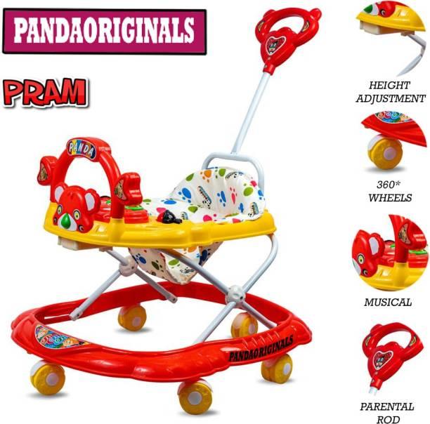 Pandaoriginals Pram RED 555 SYSTEM Travel system