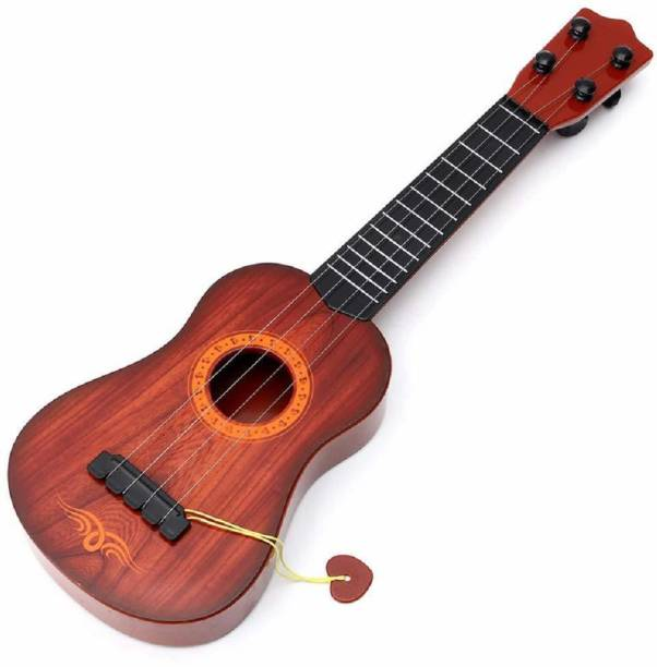 RIAVI ENTERPRISE 4 String Guitar Children's Musical Instrument Educational Toy Guitar Acoustic Guitar Linden Wood Linden Wood Right Hand Orientation
