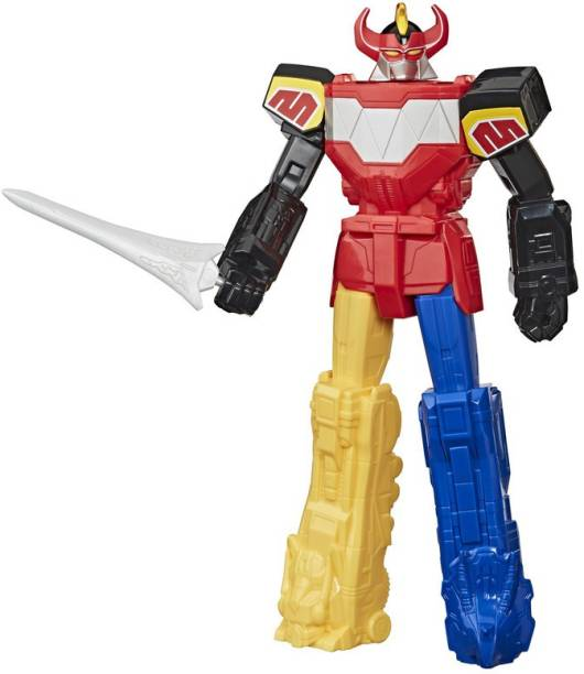 Power Rangers Mighty Morphin Megazord 10-inch Action Figure Toy With Sword Accessory Inspired by Classic TV Show