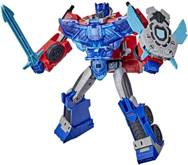 TRANSFORMERS Bumblebee Cyberverse Adventures Battle Call Officer Class Optimus Prime, Voice Activated Lights and Sounds, Ages 6 and Up 10-inch