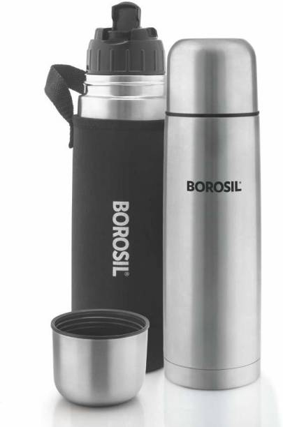 BOROSIL Hydra Thermo Stainless Steel Flask with thermal cover 1000 ml Flask