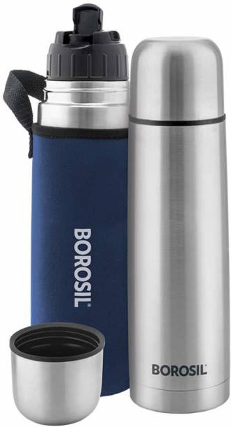 BOROSIL Hydra Thermo Stainless Steel Flask with thermal cover 500 ml Flask