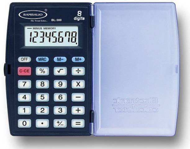 BAMBALIO 8 Digits BL-300 Blue 3 Years Warranty Portable Pocket Basic  Calculator