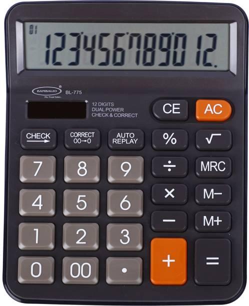 BAMBALIO 12 Digits BL-775 Large display 3 Years warranty Basic  Calculator