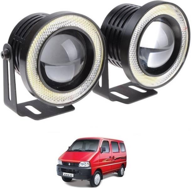 Auto Smart Look ASL2861 Car Fog LED Super Lamp 3.5 Inch with Angel Eye DRL Led Light for Maruti Eeco Car Fancy Lights