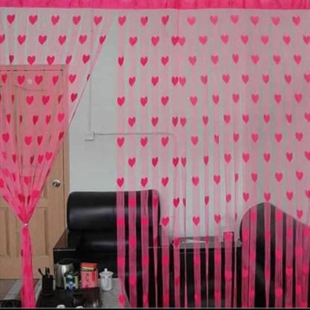 Love And Joy 213 cm (7 ft) Net Door Curtain Single Curtain