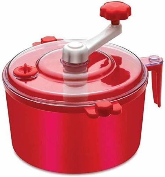 Neemco Automatic Non Electric Dough Maker Machine Atta Maker for Kitchen Plastic Detachable Dough Maker (Red) Plastic Detachable Dough Maker