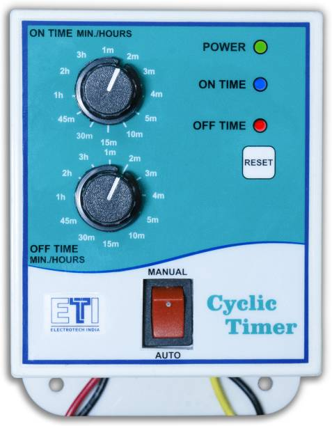 ElectroTech India Single Phase Analogue Cyclic Timer / Hydroponic Timer Programmable Electronic Timer Switch