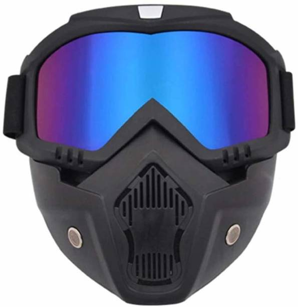 X-speed Bike Scoter Motorcycle Protective Goggles Bike Face Mask Bike Face Shield (Rainbow Glass) Wood-working  Safety Goggle