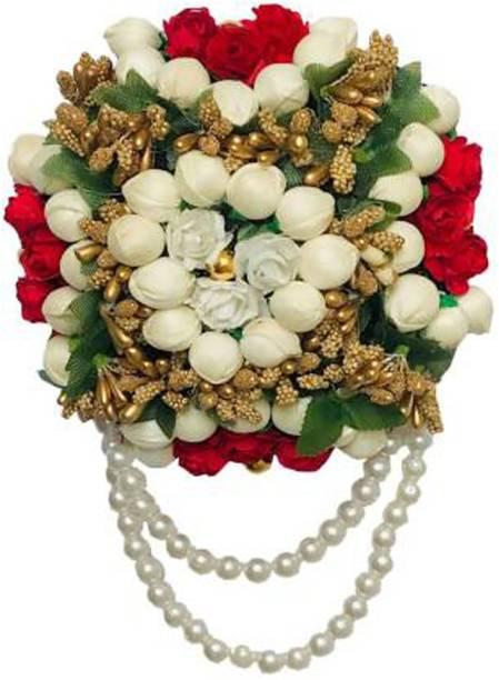 Maahal Flower Hair Juda/Bun,Accessores For Girls,Women Pack-01,(Color-Multi) Hair Accessory Set