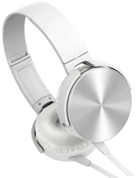 AMUSING Extra bass Headphones with foldable Adjustable Headband earphone Wired Headset