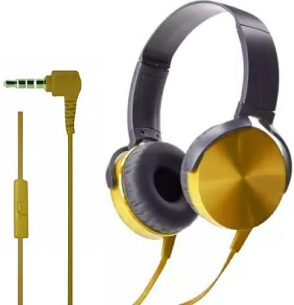 AMUSING Extra bass Headset with foldable Adjustable Headband Headphones Wired Headset