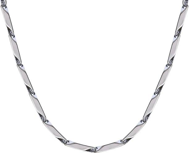 Fashion Frill Silver Chain For Men Boys Mens Chain Jewellery Silver Plated Stainless Steel Chain