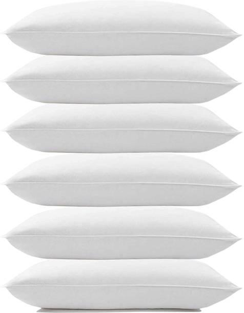 KALPANA INDUSTRIES SOFT PILLOW Cotton Solid Sleeping Pillow Pack of 6