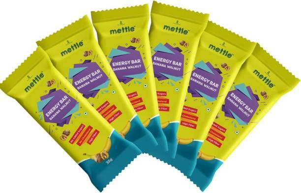 mettle Banana Walnut Energy Bar Pack Of 6 ( 35gm x 6 ) Energy Bars