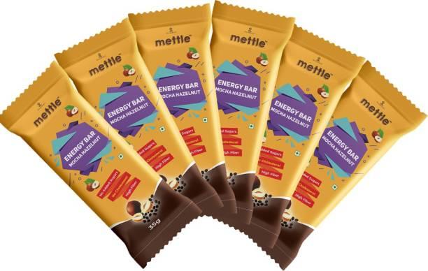 mettle Mocha Hazelnut Energy Bar Pack Of 6 ( 35 gm x 6 ) Energy Bars