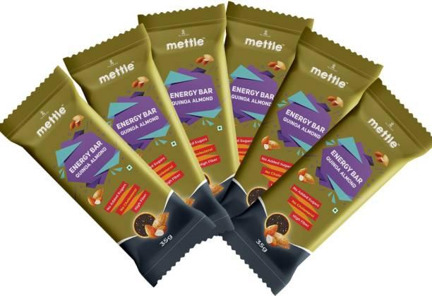 mettle Quinoa Almond Energy Bar Pack Of 6 ( 35 gm x 6 ) Energy Bars