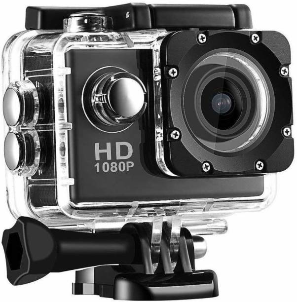 ALA GO PRO Portable Waterproof Ultra HD Sports Action Camera with Image Sensor & Wide Angle Lens for Shoot Photo's   Record Video's & Much More Sports and Action Camera