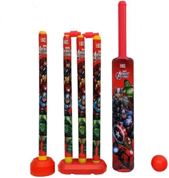 OBLETTER Cricket Set with Stump and Ball Plastic Kit for Kids Boys Cricket Bat () Cricket Bat