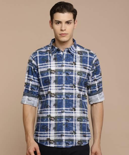 Pepe Jeans Men Printed Casual Blue Shirt