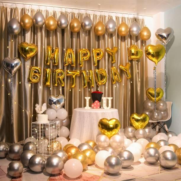 Rhythm Solid Balloons 81 PCS ROYAL BIRTHDAY BALLOONS DECORATION KIT SET Balloon