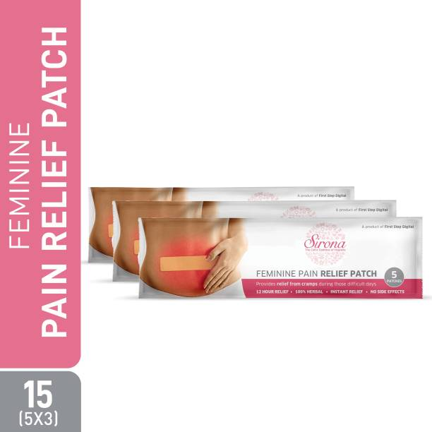 Sirona Feminine Pain Relief Patches - 15 Patches (3 Pack, 5 Patches each) Plaster & Patch