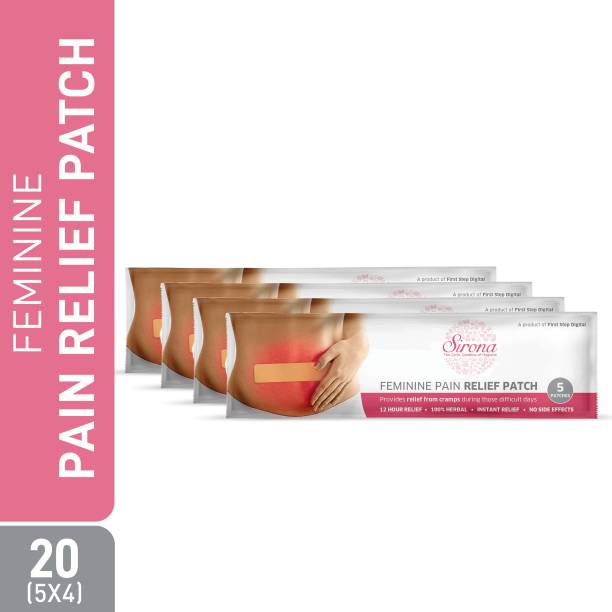 Sirona Feminine Pain Relief Patches - 20 Patches (4 Pack, 5 Patches each) Plaster & Patch