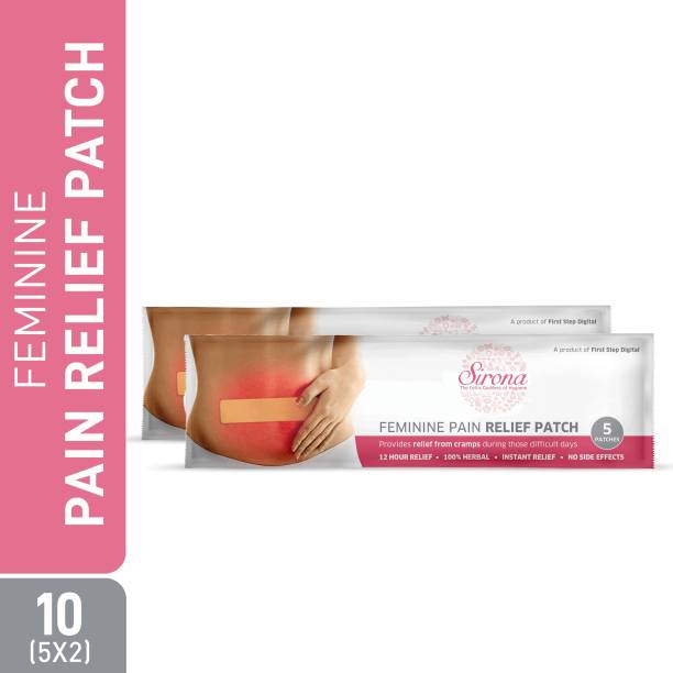 Sirona Feminine Pain Relief Patches - 10 Patches (2 Pack, 5 Patches each) Plaster & Patch