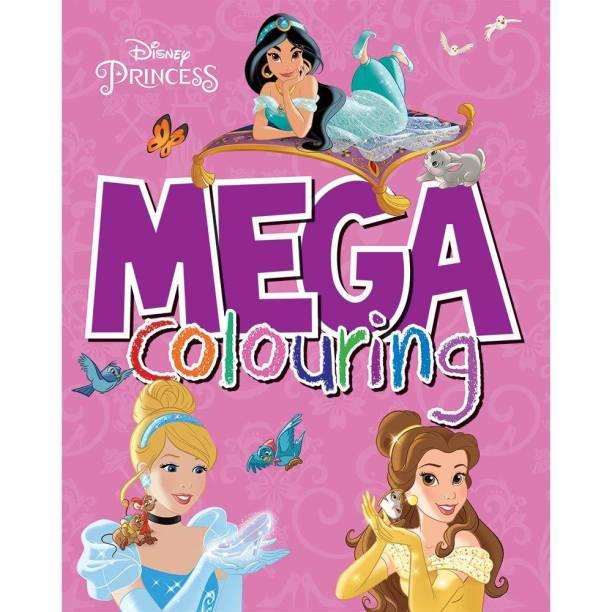 Disney Princess Mega ColouringPaperback