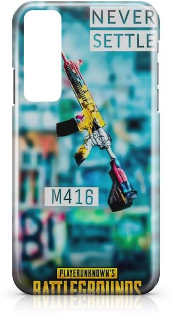 Accezory Back Cover for OPPO Reno4 Pro, PUBG, GUN, GAME, Plastic